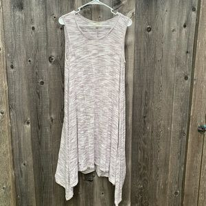 Max Studio Gray Marled Sleeveless Tee Shirt Dress